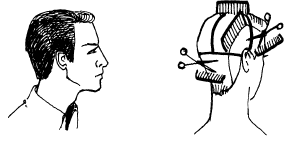 Схема стрижки мужчины