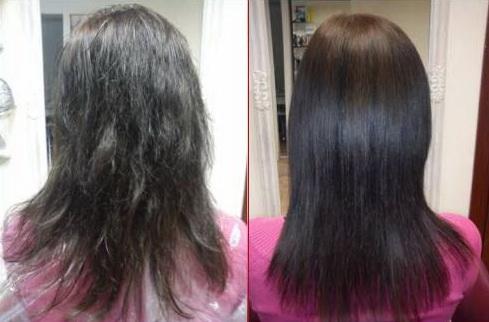 Ламинирования волос до и после фото