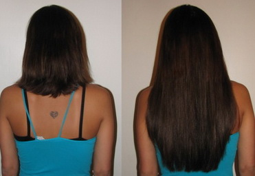 Волосы за год до и после
