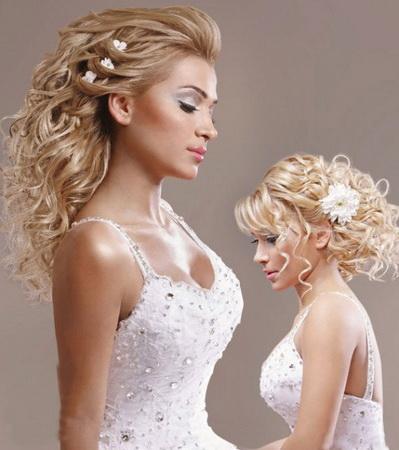Свадебные прически на длинные волосы и с живыми цветами. Прически
